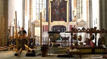 met Hans Koolwijk en Bambuso Sonoro in de Torgauer Orgelnacht, Duitsland