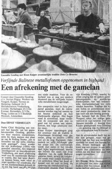 het tweede programma; Chiel Meijering rekent af …